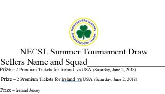 NECSL Summer Tournament Draw 2018