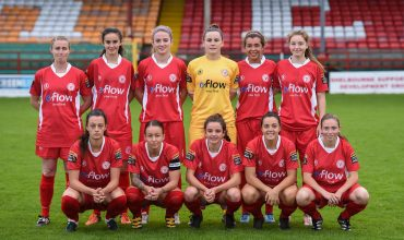 27 August 2016; The Shelbourne Ladies team at the Continental Tyres Women's National League Premier Division game between Shelbourne Ladies and Galway WFC at Tolka Park in Drumcondra, Dublin.  Photo by Matt Browne/Sportsfile